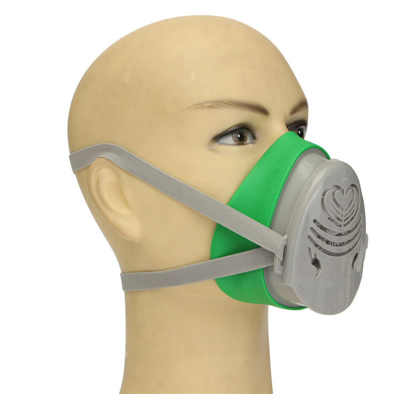360 Degree Anti-Dust Respirator Filter Paint Spraying Cartridge Gas Mask New Brand New High Quality new safurance protection filter dual gas mask chemical gas anti dust paint respirator face mask with goggles workplace safety