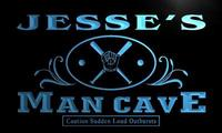 X0089 Tm Jesse S Man Cave Dugout Baseball Custom Personalized Name Neon Sign Wholesale Dropshipping