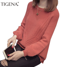 TIGENA 2018 Autumn Winter Jumper Women Sweaters And Pullovers Casual Long Sleeve Knitted Pullover And Sweater Female Pull Femme