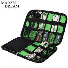 Mara's Dream, новинка, электронные аксессуары, дорожная сумка, нейлон, органайзер для путешествий, линия, SD карта, USB кабель, цифровая сумка для устройства