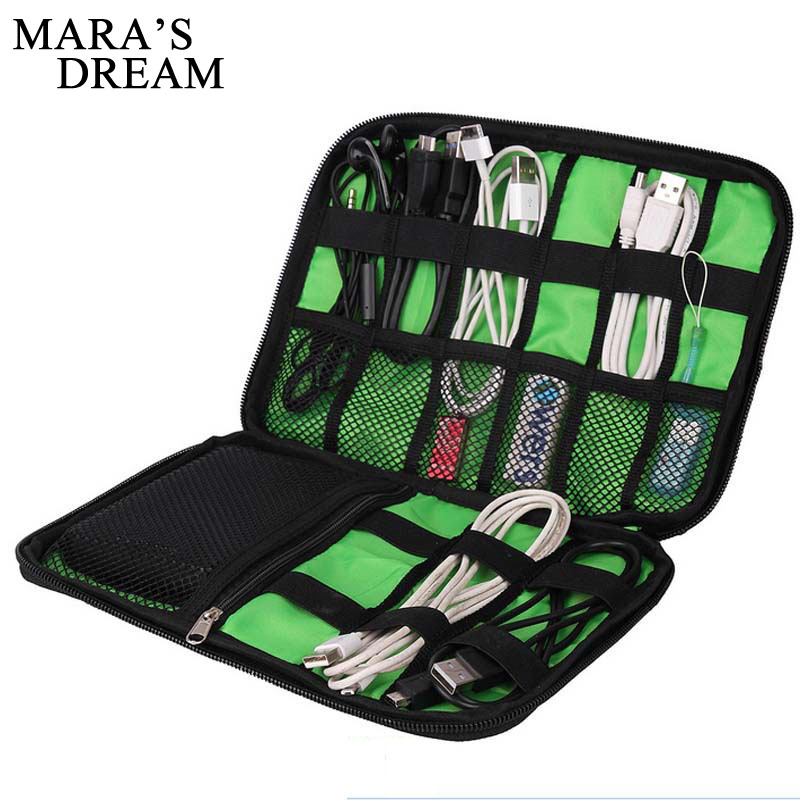 Mara's Dream New Electronic Accessories Travel Bag Nylon  Travel  Organizer  Line SD Card USB Cable Digital Device Bags