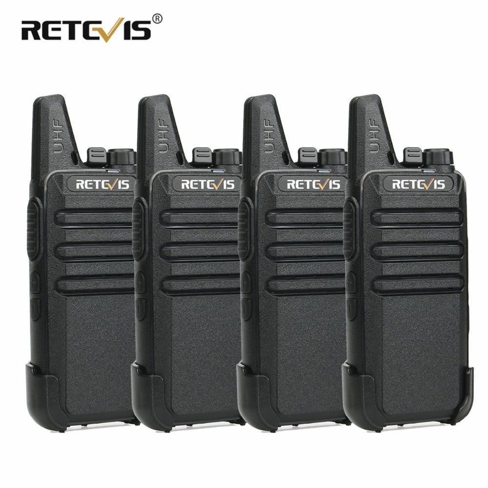 4 pcs RETEVIS RT622 PMR446 RT22 Mini PMR Walkie Talkie PMR Rádio VOX Walkie-Talkie Walkie Talkie Rádio Comunicador andar Talk