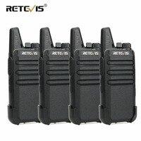 4pcs RETEVIS RT22 Mini Walkie Talkie 2W UHF VOX Portable Two way Radio Station Talkie Walkie Transceiver Walkie Talkie Walk Talk