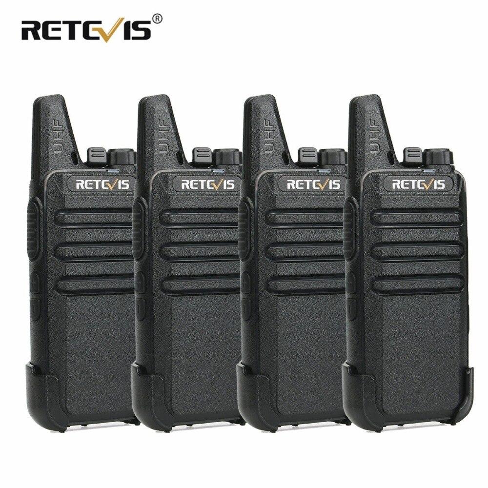4pcs RETEVIS RT622 RT22 Mini PMR Walkie Talkie PMR Radio PMR446 VOX Talkie Walkie Radio Communicator Walkie-Talkie Walk Talk