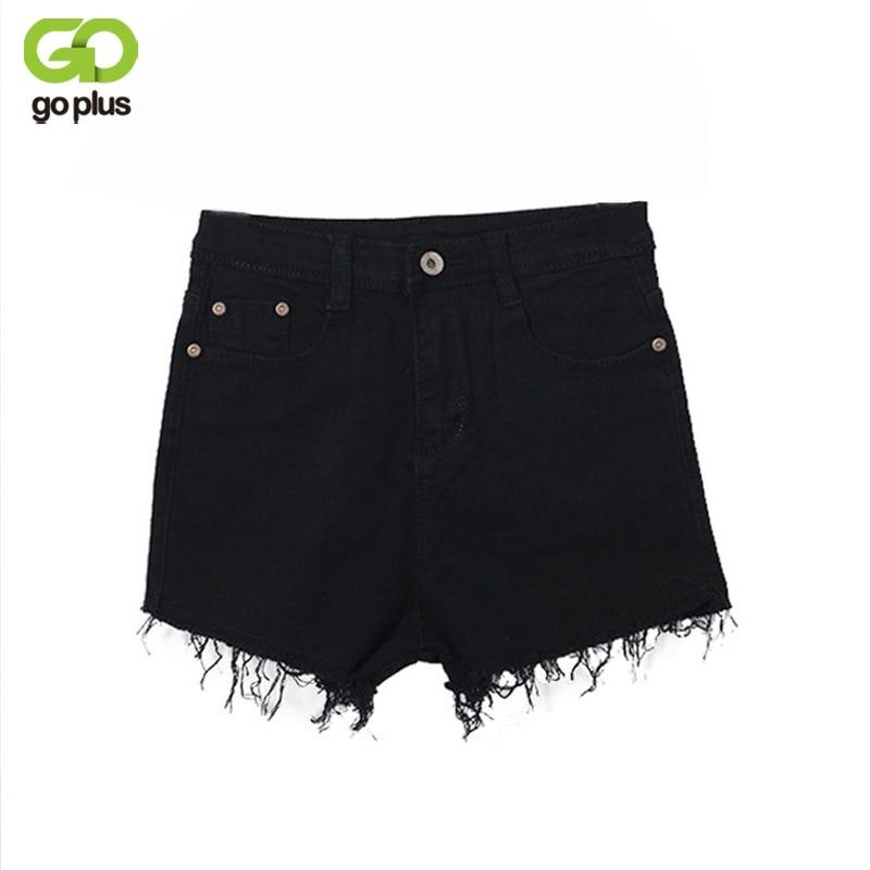 GOPLUS 2018 New White Celana Pendek Wanita Casual Fashion Short Jeans Cintura Alta Tassel Denim High