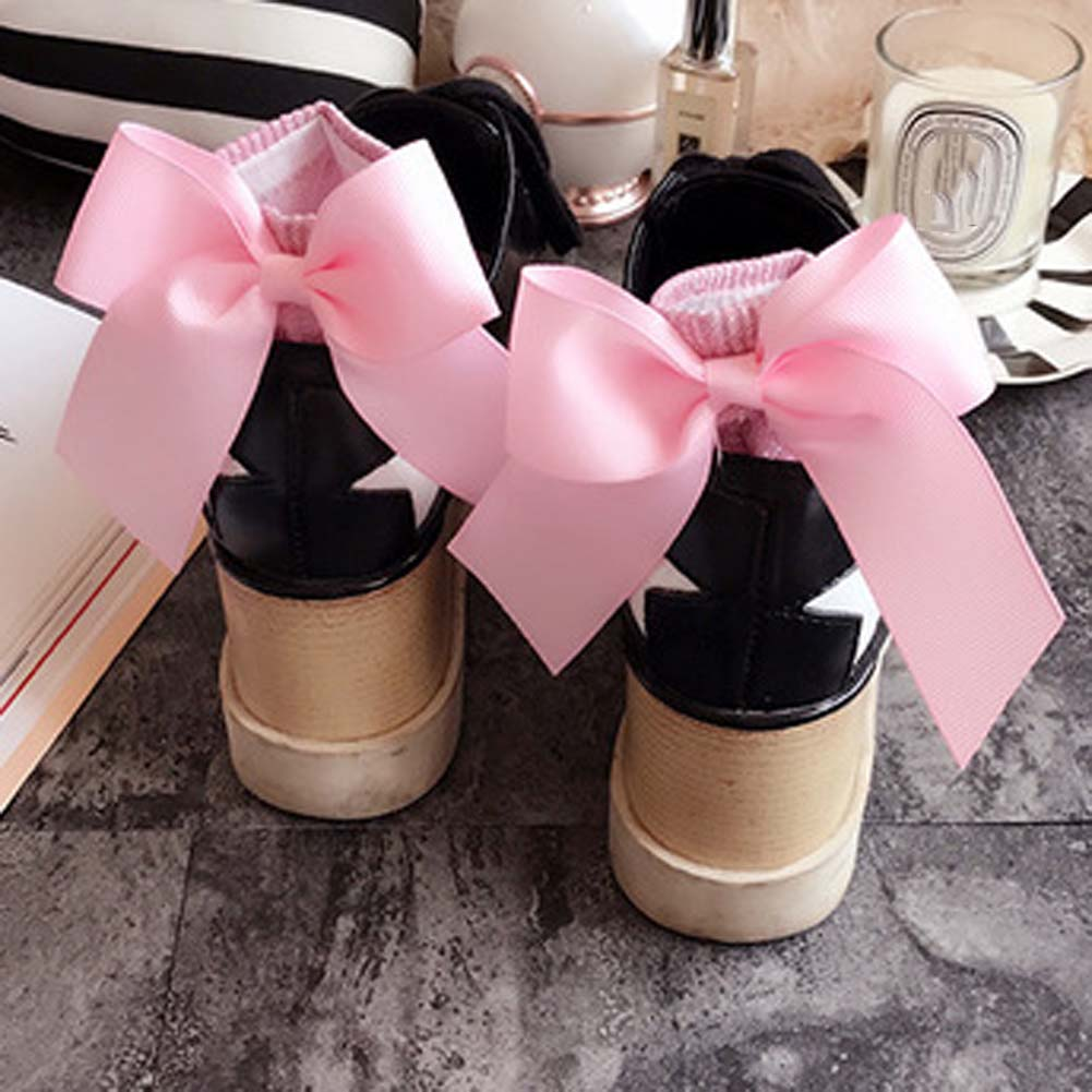 11 Colors Lovely Women Summer Autumn Sweet Bowknot Socks Lady Girls Street Trendy Gold Silver Ribbon Big Bow Socks