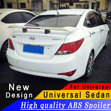 Universal for most Sedan High quality ABS material rear wing spoiler For Audi BMW Toyota Honda KIA Hyundai Opel Mazda Ford Skoda цена