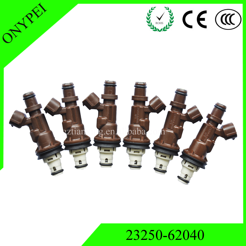 6PCS OEM 23250 62040 23209 62040 Fuel Injector For Toyota 4Runner Tacoma Tundra 3 4L 2325062040