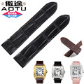 AUTO 20/23mm Crocodile Alligator Grain Leather Watchband Watch Strap Buckle Wristband for Cartier Santos 100 Man Woman + TOOLS