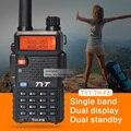 Novo lançamento 5 w vhf 136-174 mhz handheld rádio em dois sentidos 1600 mah li-ion walkie talkie tyt th-f8 rádio transceptor portátil