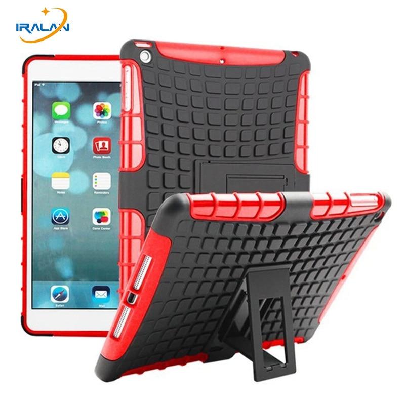 2018 Жаңа ауыр жүктеме әсеріне арналған гибридтік бронь қақпағы iPad 2 3 4 9.7 «Tablet гибридтік тірегі Hard PC + TPU резеңке қорапшасы + Stylus + Film