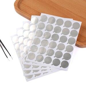 Image 5 - 새로운 300pcs 일회용 속눈썹 접착제 홀더 팔레트 속눈썹 확장 접착제 패드 스탠드 속눈썹 눈 미용 도구 크기 2.5cm