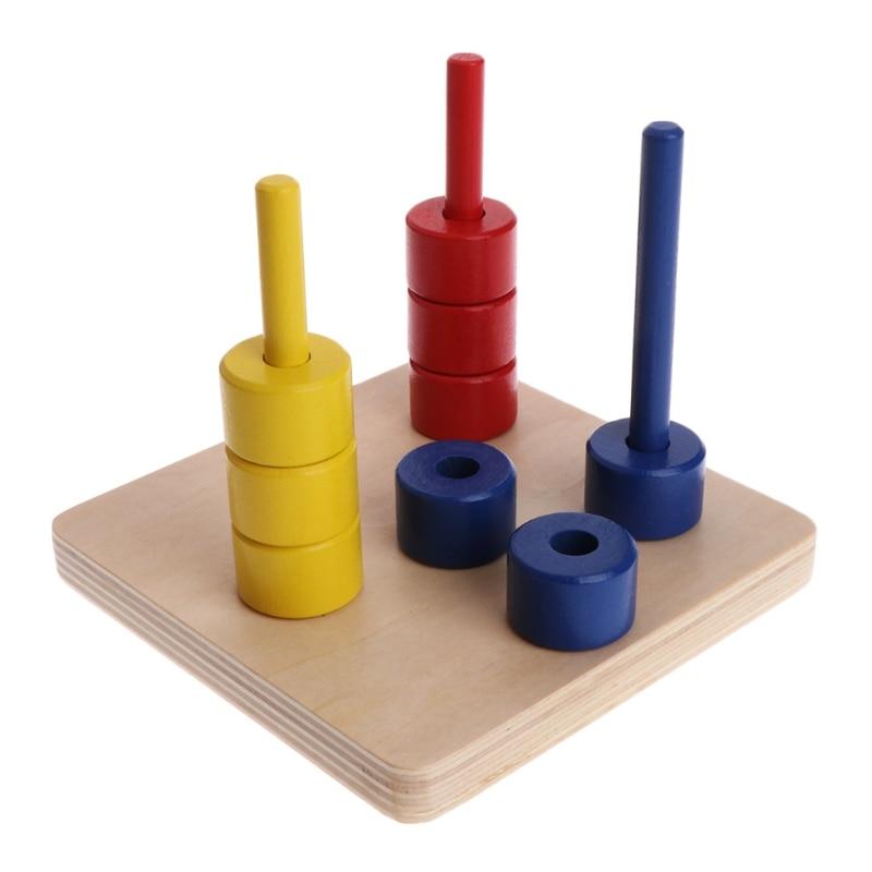 1 Set Montessori Material Colorful Wooden Score Doll Kid ...