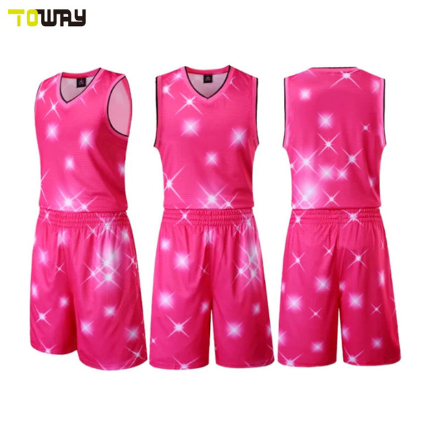 00735b439a2 Custom new style basketball jersey uniform design color pink-in ...