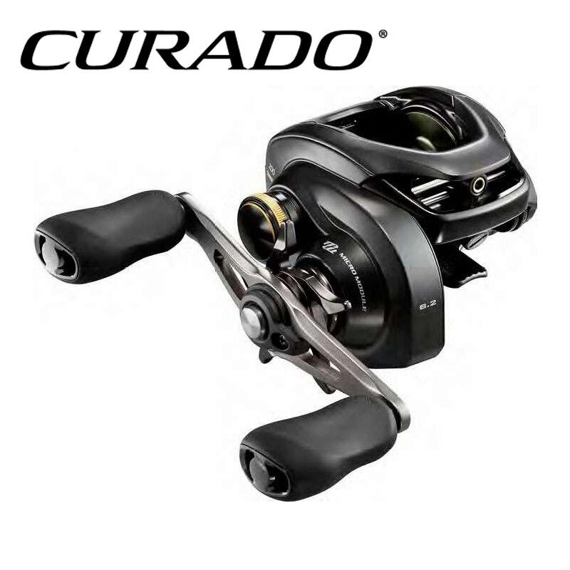 100 2017 NEW MODEL SHIMANO CURADO K Low profile fishing reel 6 1BB MicroModule gear Hagane