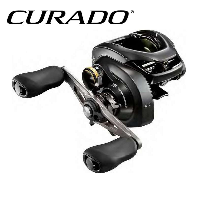 100% 2017 NEW MODEL SHIMANO CURADO K Low profile fishing reel 6+1BB MicroModule gear Hagane Body curado 200hgk