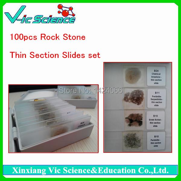 100pcs Rock Thin Section Slides set