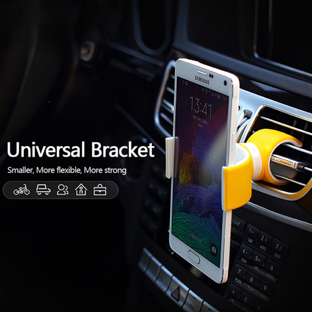 Xnyocn Universal car bike bicycle phone holder Air Vent stand bracket 360 rotate under 6 bottle Gym use for iPhone 5s 6 plus