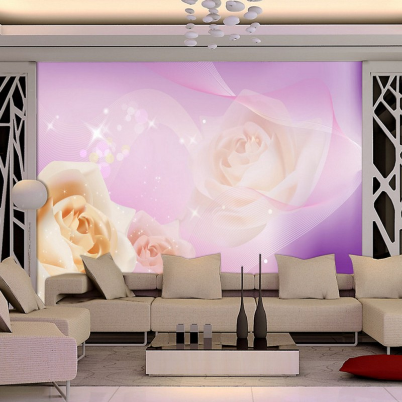 Photo wallpaper Dream rose flower mural living room TV Background wall decoration painting bedroom hotel bathroom wallpaper book knowledge power channel creative 3d large mural wallpaper 3d bedroom living room tv backdrop painting wallpaper