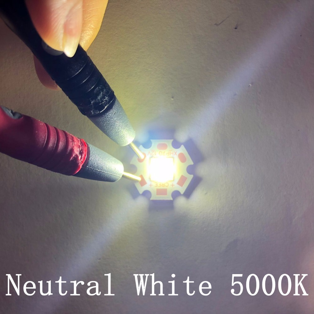 10pcs/lot Newset CREE XHP50.2 XHP50 2 generation LED Cold White/Neutral White/Warm White LED Emitter Diode with 20mm Copper PCB