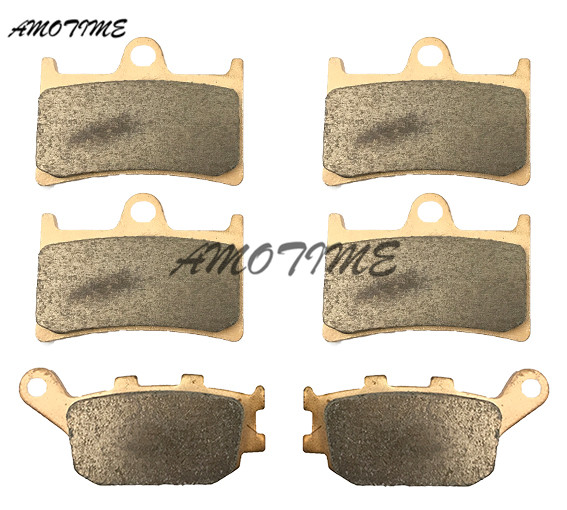 Motorcycle Parts Copper Based Sintered Motor Front & Rear Brake Pads For Yamaha FZ6 FAZER 2007-2009 FZ1 Fazer 2006-2014 08 09 10