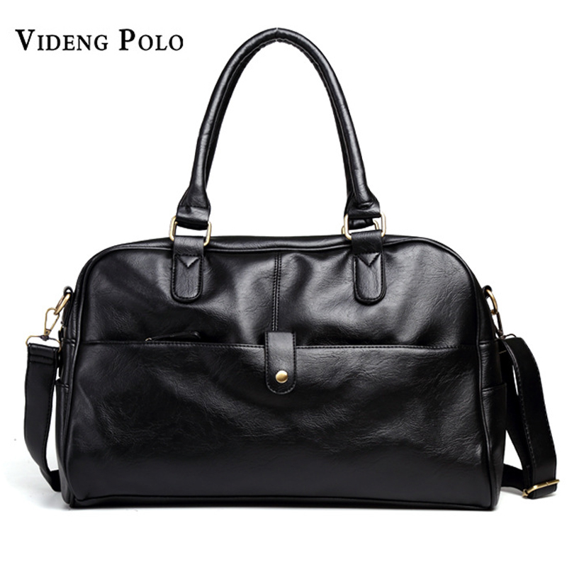 VIDENG POLO Men Bag Brand Leather Handbag Large Capacity Tote Portable Shoulder  Duffle Bags Men s Casual 16ccd1c4b8350