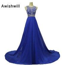 Koningsblauw Gown Chiffon Afrikaanse