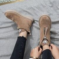 Women Vulcanized Shoes fashion zipper wedge women sneakers high help tenis feminino solid color ladies shoes 2018 women shoes