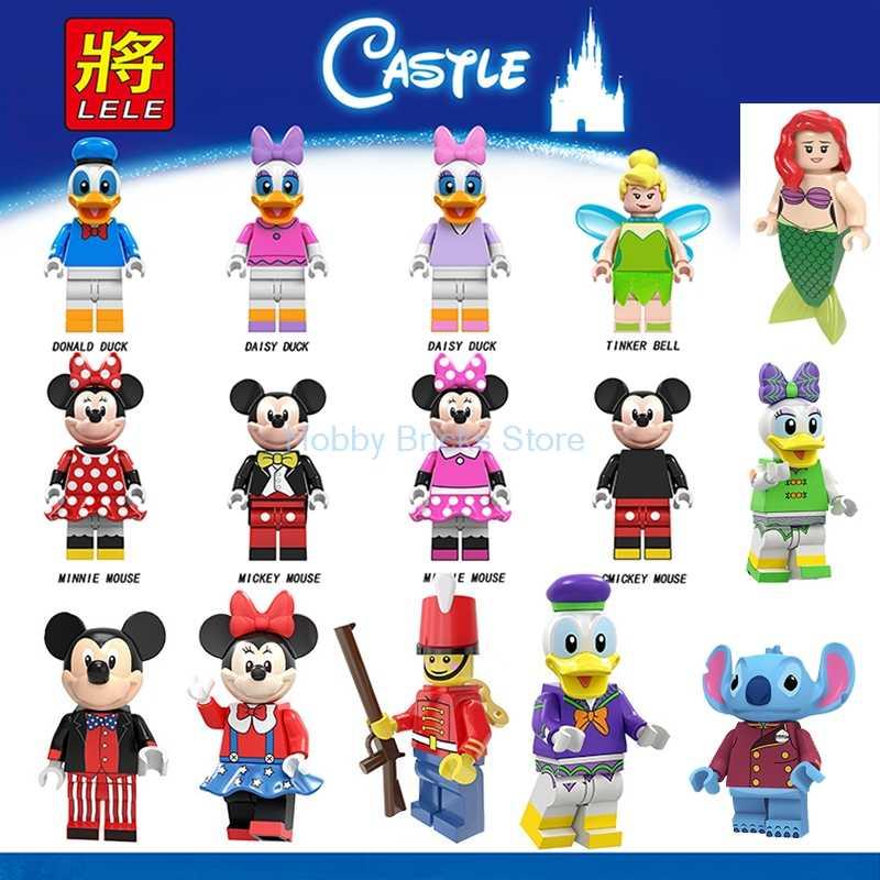 Para Os Amigos do Mickeys Unikitty Mermai Pato Dos Desenhos Animados Pato Donald Daisy PRINCESA Tinker Minnie Mouse Figuras Blocos de construção Brinquedos