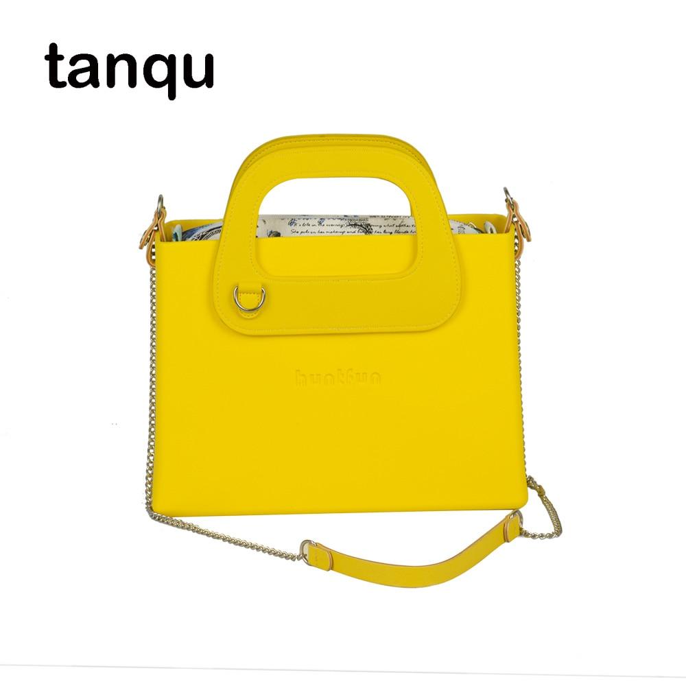 d6519dac3a New Obag style huntfun square EVA Bag with Oblong D buckle Handle Shoulder  Chain waterproof inner pocket women O bag Handbag