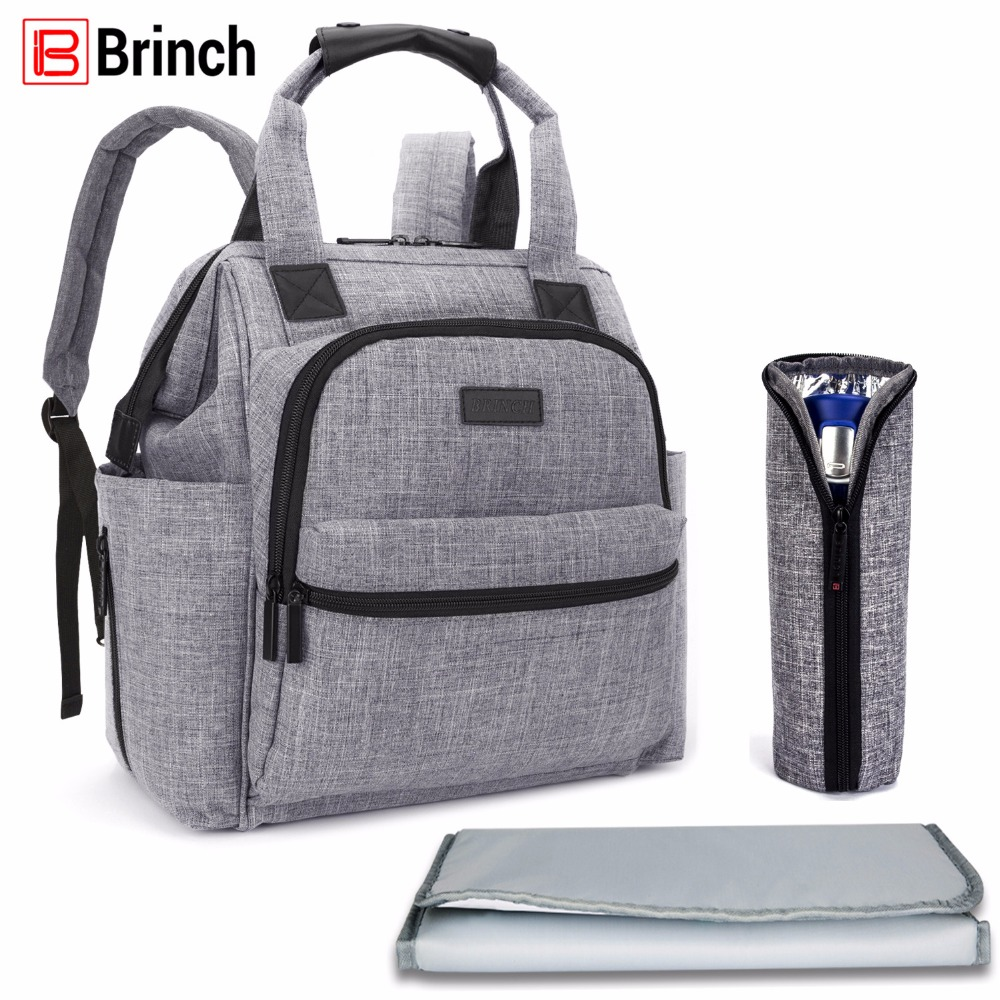 BRINCH Multifunctional Diaper Bag For Mother Baby Nappy Bag Backpack Large Capacity Mummy Bag With Changing