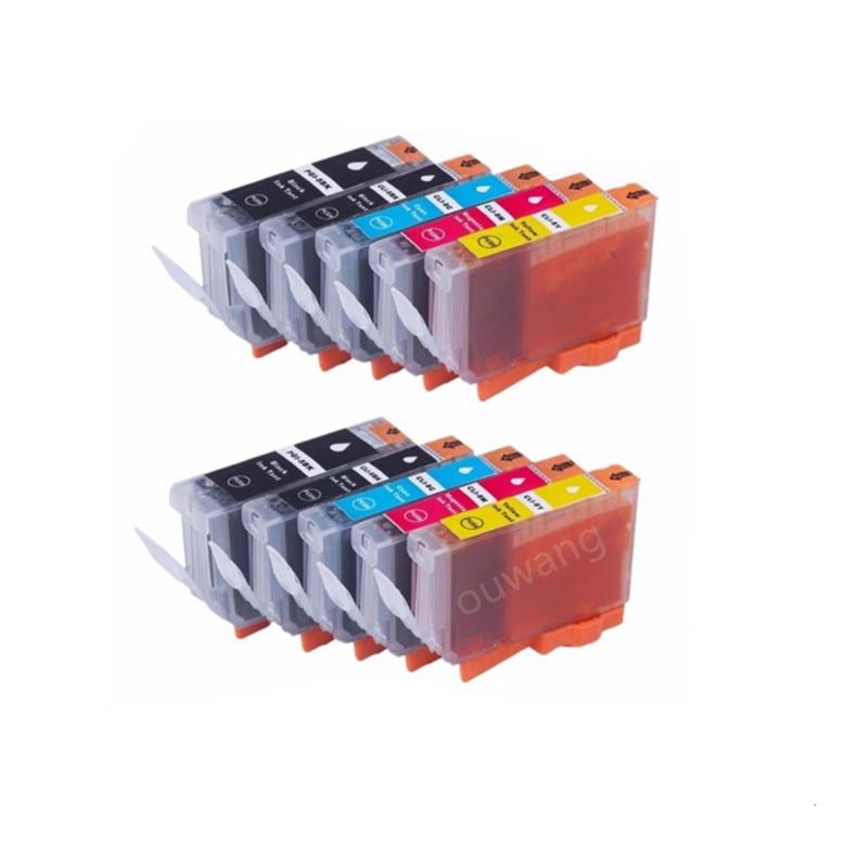10x Ink For Cartridges PGI-5BK CLI-8BK CLI-8C CLI-8M CLI-8Y for Pixma iP4200 iP4500 iP5100 iP5200 iP7500 iP7600 printer