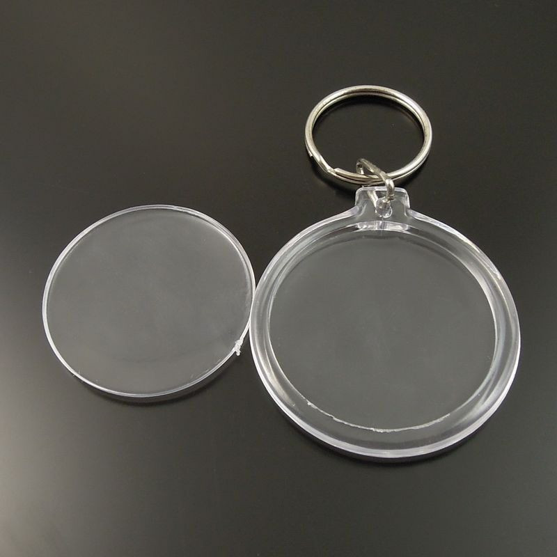 8pc Lot Apple Shape Blank Acrylic Keychains Insert Photo