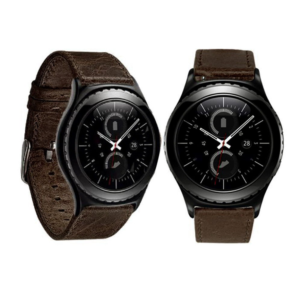 Smart Watch Bracelet 2018  Luxury Genuine Leather Watch band Wrist strap For Samsung Galaxy Gear S2 Classic #1229 genuine leather watch band strap for samsung galaxy gear s2 classic r732 black