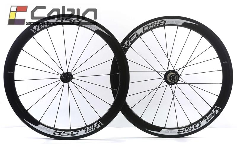 20 inch bike carbon wheel, Full carbon Velosa super sprint 30 aero 451 carbon wheelset,38mm clincher folding bike wheel zota carbon 20