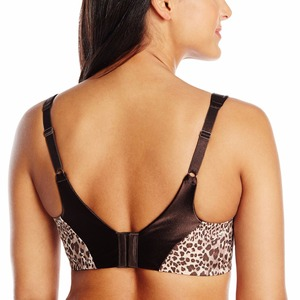Image 2 - Damski biustonosz w dużym rozmiarze Sexy Leopard Bralette Soft BH fiszbiny biustonosze dla dużych piersi kobiet C DD Cup