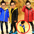 Free shipping Winter boy's labeling embroidered boy's candy color quilted jacket children's coat cotton-padded clothes