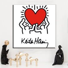 ФОТО ZZ1369 modern abstract canvas art keith haring canvas oil art painting wall pictures for livingroom bedroom decorations unfrfame