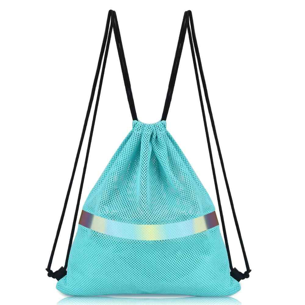 Fashion Tas Ransel Backpack Breathable Mesh Tas Promosi Olahraga Gym Sack Cinch Tas