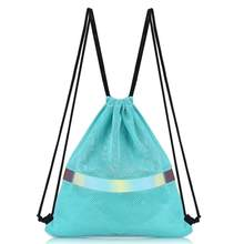Fashion Drawstring Backpack bag Breathable Mesh Bag Promotional Sport Gym Sack Cinch Bags(China)