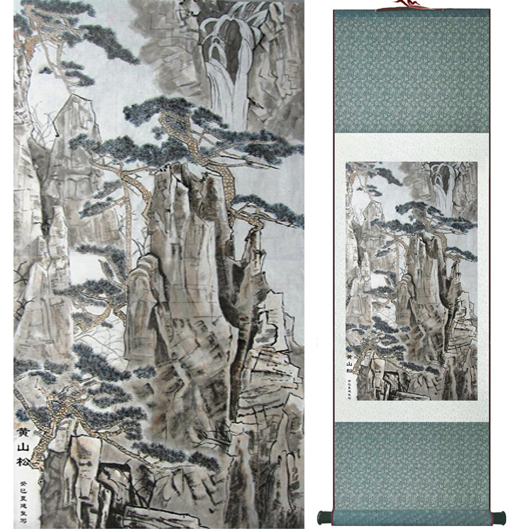 Mountain and River painting Chinese scroll painting landscape art painting home decoration picture 041704