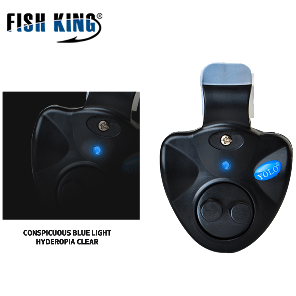 FISH KING 1pcs 40g Fishing Electronic LED Light Fish Bite Sound Alarm Bell Clip On Fishing Rod Black Tackle Fishing accessories  2