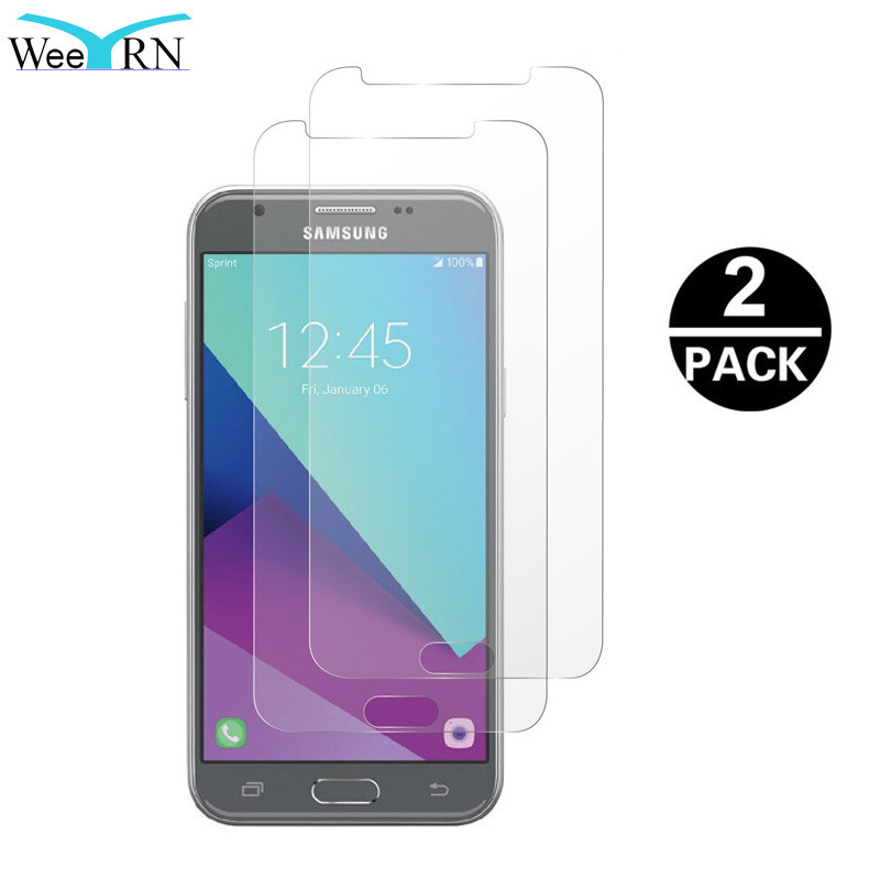 Galleria fotografica WeeYRN 2PCS Tempered Glass for Samsung Galaxy J3 2017 EU J330 Protective Glass Screen Protector Film for Samsung J3 2017 9H 2.5D