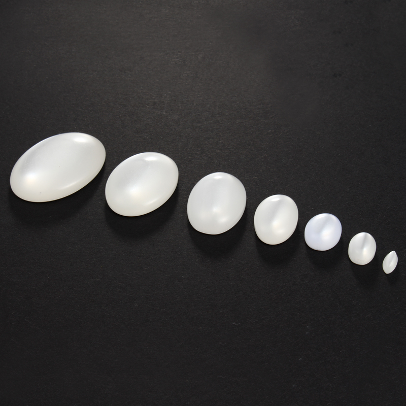 Jewelry & Accessories Wholesale 13*18mm White Oval Cat Eye Half Flat Back Cabochons Beads Diy Craft Scrapbooking Phone Decor Accessories 30pcs Ha-05