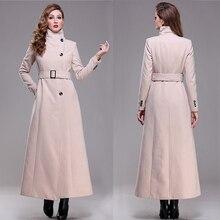 casaco Plus size good quality 2016 brand new autumn winter overcoat warm elegent long maxi wool coat women fashion winter coat