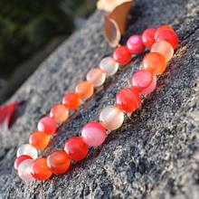 Trendy Striped Agates Bracelet Women Men 8mm Round Loose Beads Handmade Bracelets Lovers Friendship Pulsera