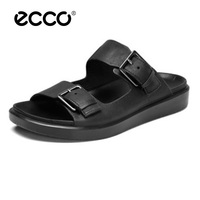 ECCO Hot Sale New Fashion Summer Quick dry Men Shoes High Quality Leather Sandals Lazy Shoes