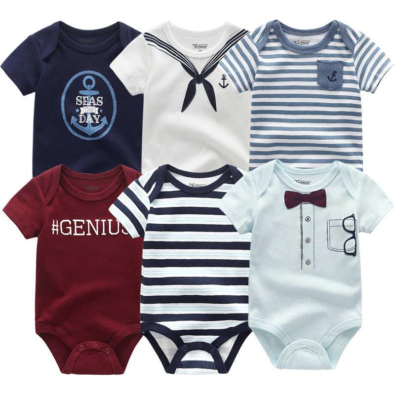 2019 plus récent 6 pièces/lot bébé fille Clothe Roupa de bebes bébé garçon vêtements licorne bébé vêtements ensembles barboteuses nouveau-né coton 0-12M