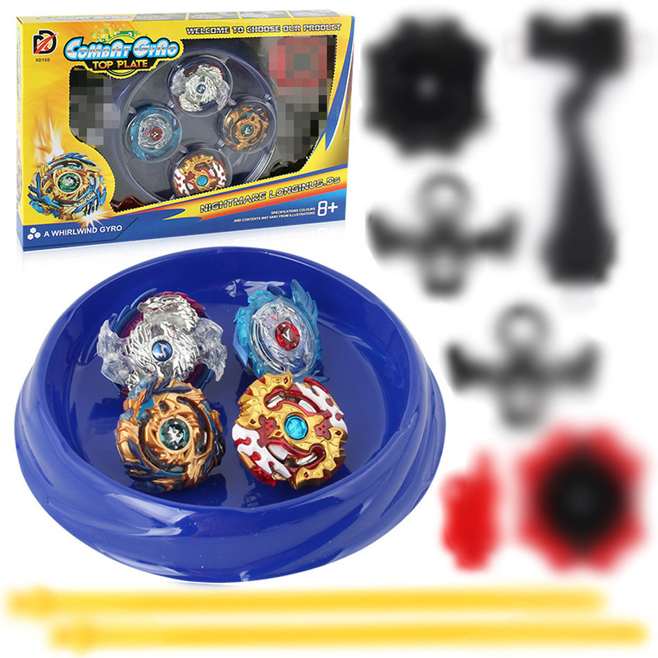 New 4PCS Boxed bayblade Beyblade Burst 4D Set With Launcher and Arena Metal Fight Battle Fusion Classic Toys With Original Box топор fusion battle ax sog