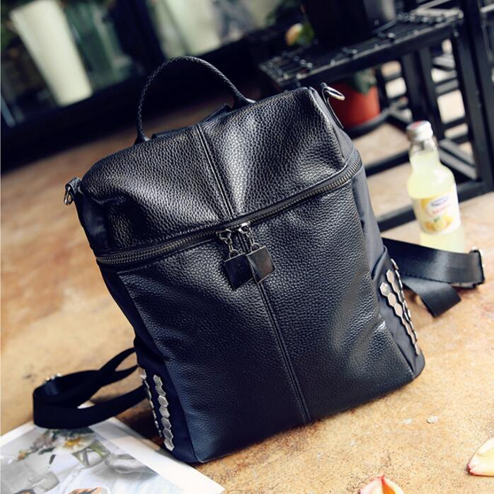 2017 Design Genuine Leather Backpacks School Bag Brand of backpack Student Backpack Ladies Women Bags Leather Package Female